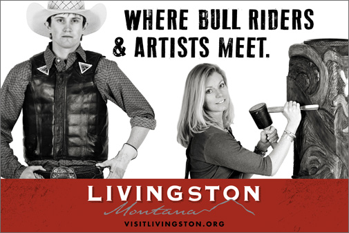 Brand Livingston billboard design