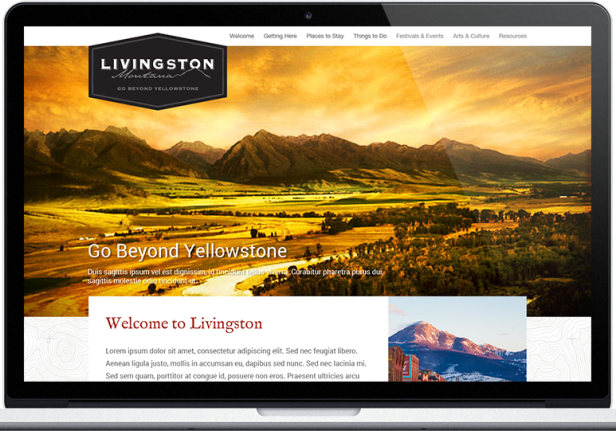 Web Design: Visit Livingston, Montana