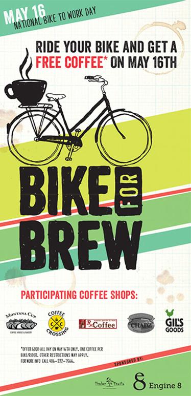 graphic work Bike & Brew