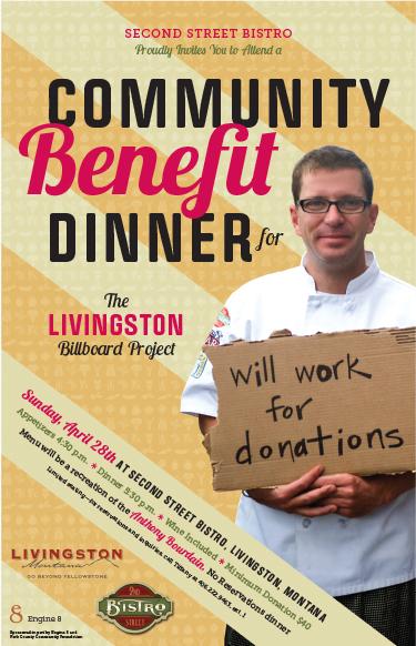 graphic work community benefit dinner